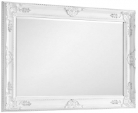Julian Bowen Palais White Rectangular Wall Mirror