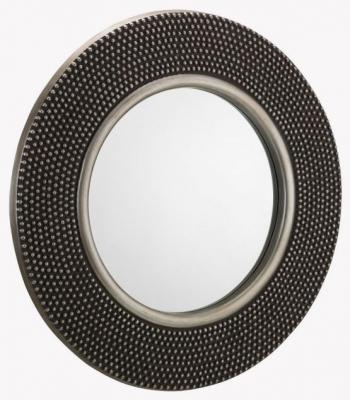 Julian Bowen Adagio Studded Round Wall Mirror - 80cm x 80cm