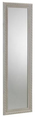 Julian Bowen Allegro White Rectangular Mirror - 38cm x 128cm