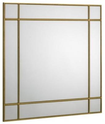 Julian Bowen Fortissimo Gold Square Wall Mirror - 80cm x 80cm