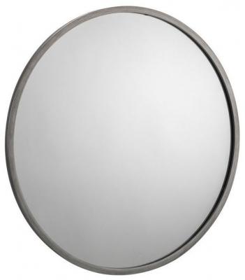 Julian Bowen Octave Pewter Round Wall Mirror - 80cm x 80cm