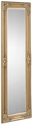 Julian Bowen Palais Gold Rectangular Dress Mirror - 40cm x 130cm