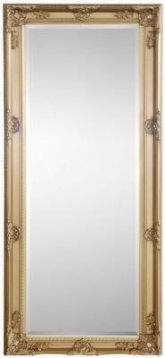 Julian Bowen Palais Gold Rectangular Dress Mirror - 70cm x 170cm