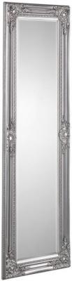 Julian Bowen Palais Pewter Rectangular Dress Mirror - 40cm x 130cm