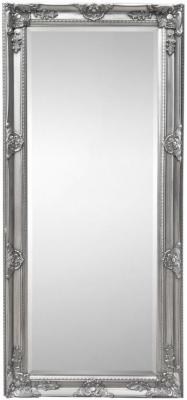 Julian Bowen Palais Pewter Rectangular Dress Mirror - 70cm x 170cm