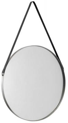 Julian Bowen Opera Round Pewter Mirror - 60cm x 60cm