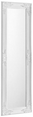 Julian Bowen Palais White Rectangular Mirror - 40cm x 130cm