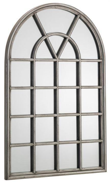 Julian Bowen Opus Pewter Window Mirror - 60cm x 90cm