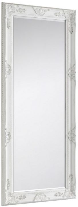 Julian Bowen Palais White Lean Rectangular Mirror