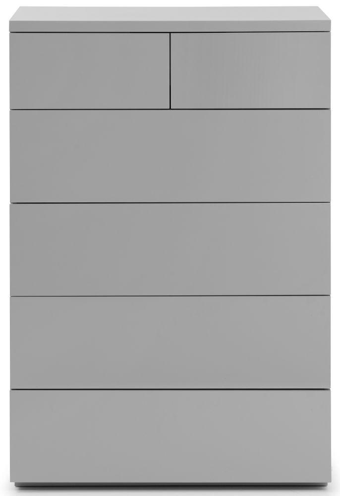 Julian Bowen Monaco Grey High Gloss 4+2 Drawer Chest