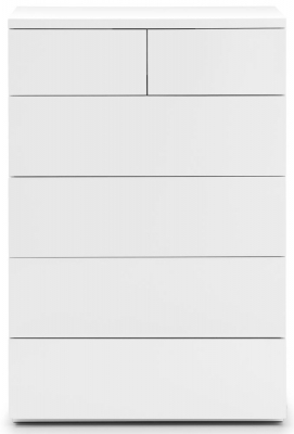 Julian Bowen Monaco White High Gloss 4+2 Drawer Chest