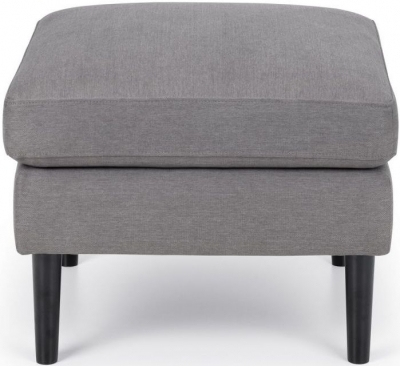 Julian Bowen Monza Grey Linen Fabric Ottoman Stool