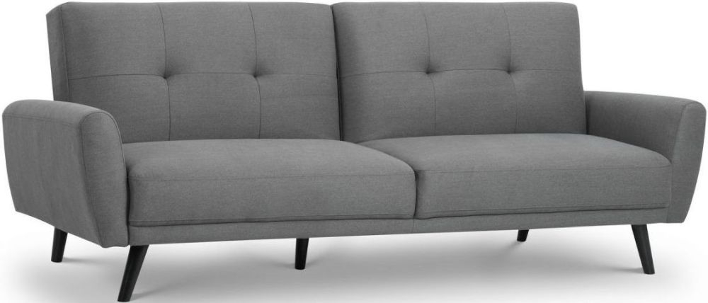 Julian Bowen Monza Grey Linen Fabric Sofa Bed