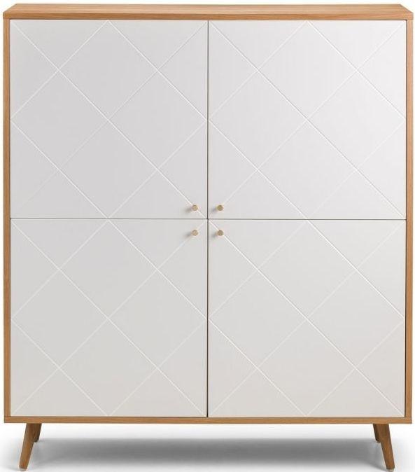 Julian Bowen Moritz Oak And White 4, White Storage Furniture Uk