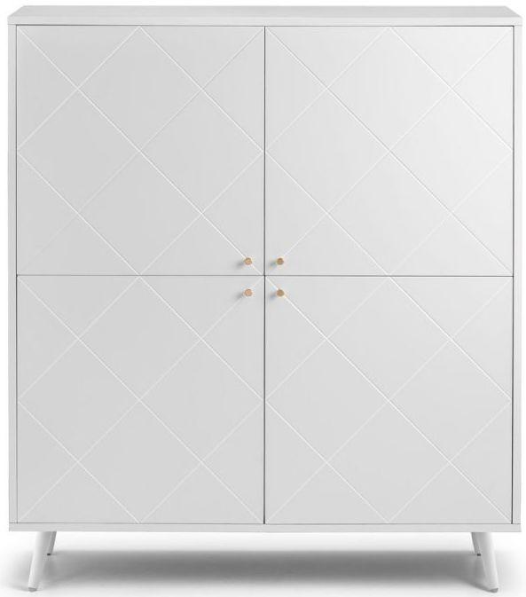 Julian Bowen Moritz White 4 Door Cabinet