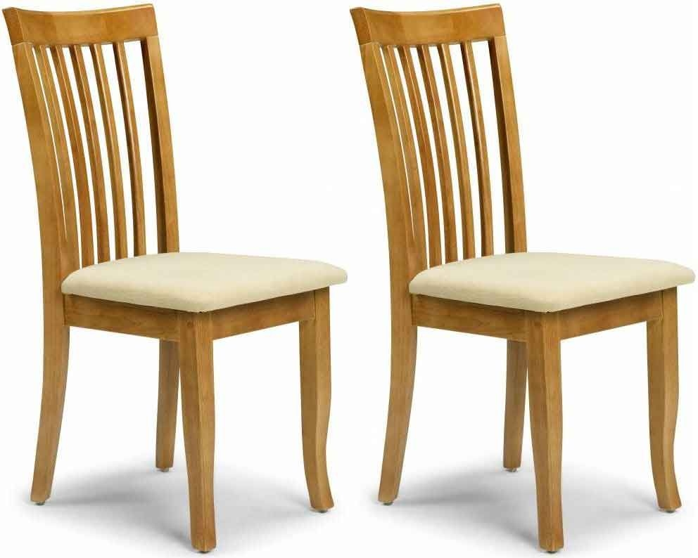 Buy Julian Bowen Newbury Maple Dining Chair Pair Online CFS UK