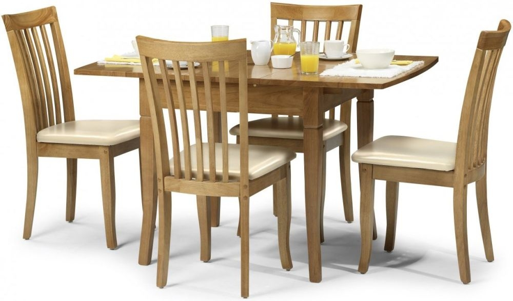 Julian Bowen Newbury Maple Rectangular Extending Dining Set with 4 Chairs - 99cm-129cm