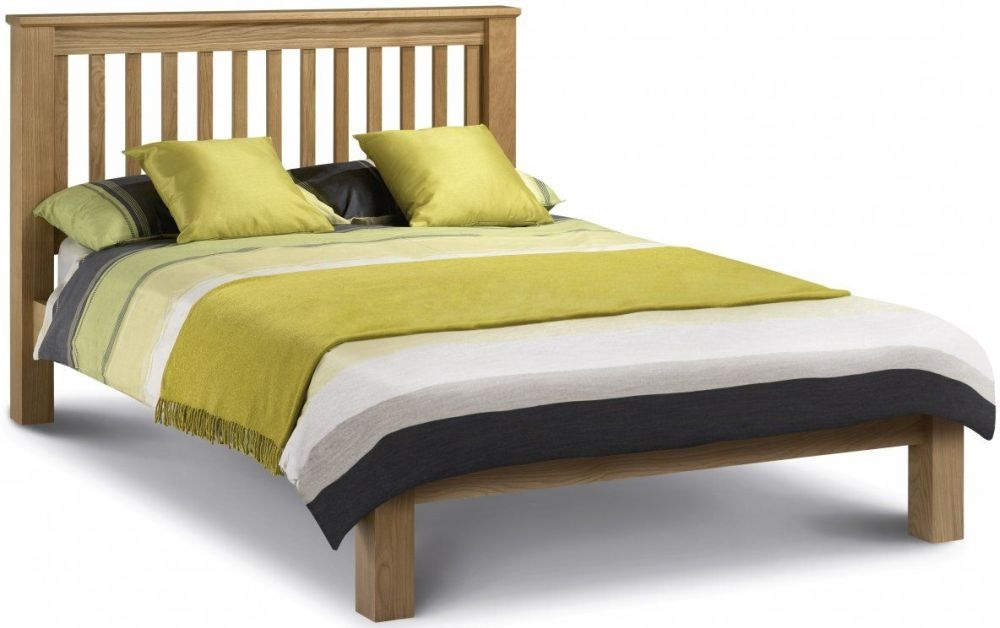 buy julian bowen amsterdam oak king size bed oak low foot end. Black Bedroom Furniture Sets. Home Design Ideas
