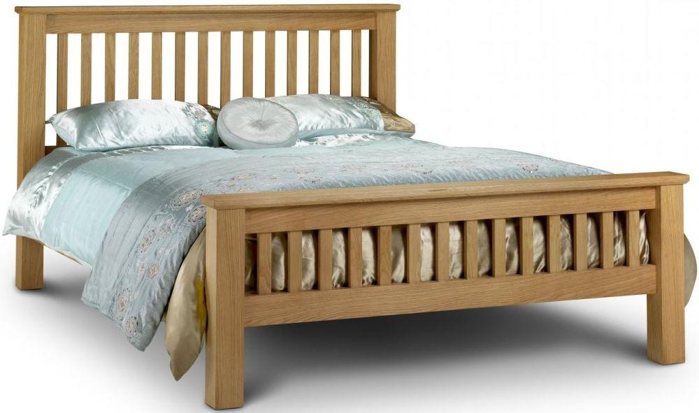 Julian Bowen Amsterdam Oak High Foot End Bed