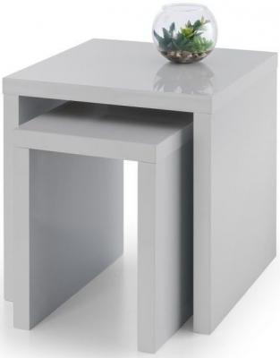 Julian Bowen Metro Grey High Gloss Nest of Tables