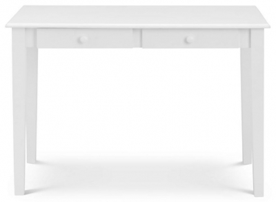Julian Bowen Carrington White 2 Drawer Desk