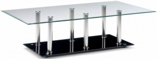 Julian Bowen Alpha Glass Top Coffee Table