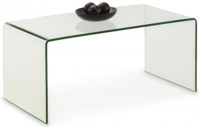 Julian Bowen Amalfi Bent Glass Coffee Table