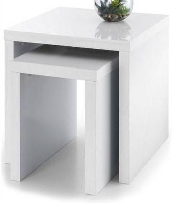 Julian Bowen Metro White High Gloss Nest of Table