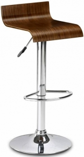 Julian Bowen Stratos Walnut Bar Stool