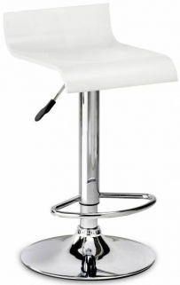 Julian Bowen Stratos White Bar Stool