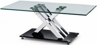 Julian Bowen X-Frame Glass Top Coffee Table