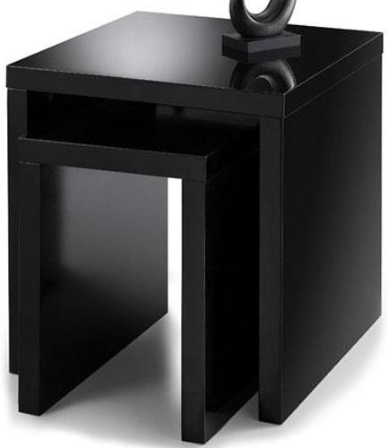 Julian Bowen Metro Black High Gloss Nest of Table