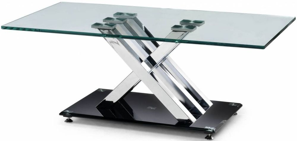 Julian Bowen X-Frame Glass Top Coffee Table