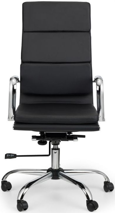 Julian Bowen Norton Black Faux Leather Office Chair