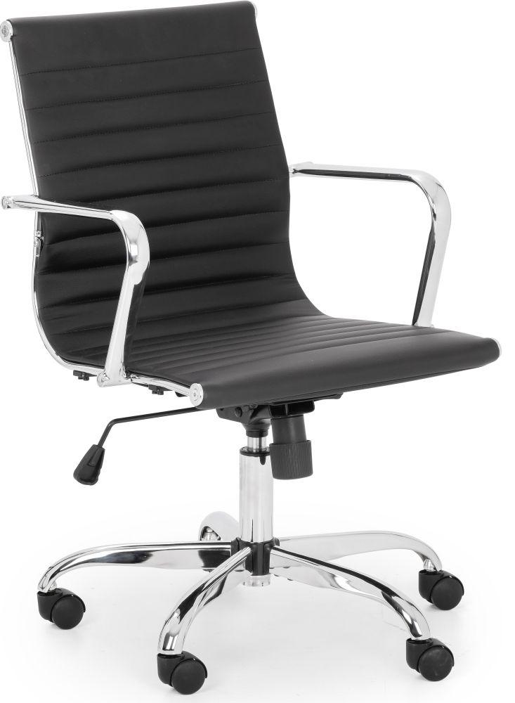 Julian Bowen Gio Black and Chrome Office Chair