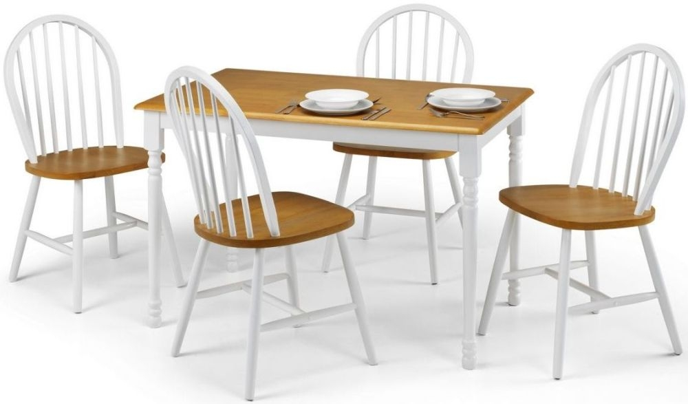 Julian Bowen Oslo Oak Dining Table and 4 Chairs