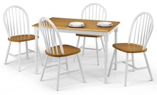 Julian Bowen Oslo Oak Dining Set with 4 Chairs