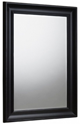 Julian Bowen Forte Black Wall Mirror