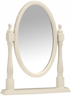 Julian Bowen Josephine Off White Mirror - Dressing Table Oval