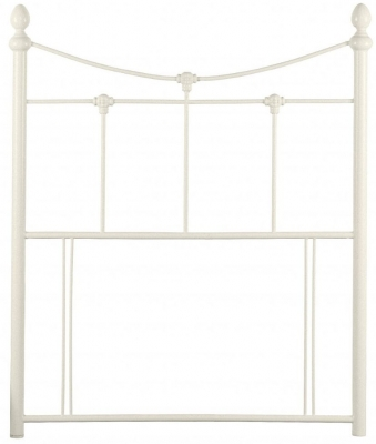 Julian Bowen Rebecca Stone White Headboard - 3ft Single
