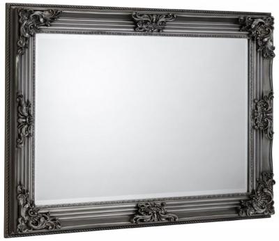 Julian Bowen Rococo Pewter Rectangular Wall Mirror - 110cm x 80cm