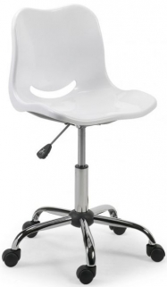 Julian Bowen White Swivel Chair