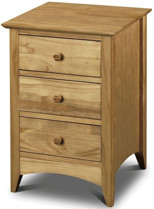 Julian Bowen Kendal Pine 3 Drawer Bedside Cabinet