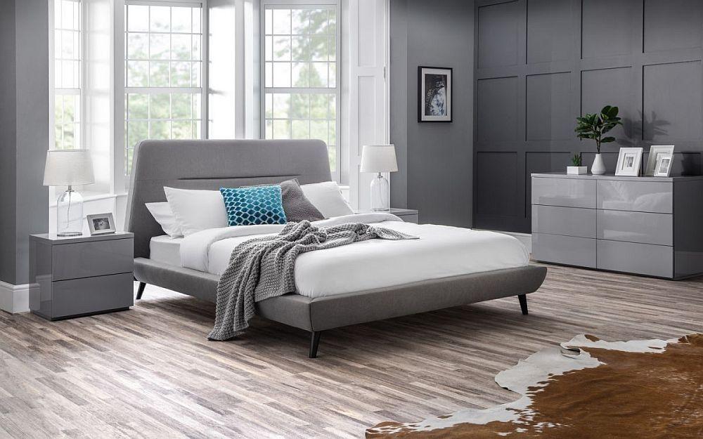 Julian Bowen Kyoto Grey Fabric Bed