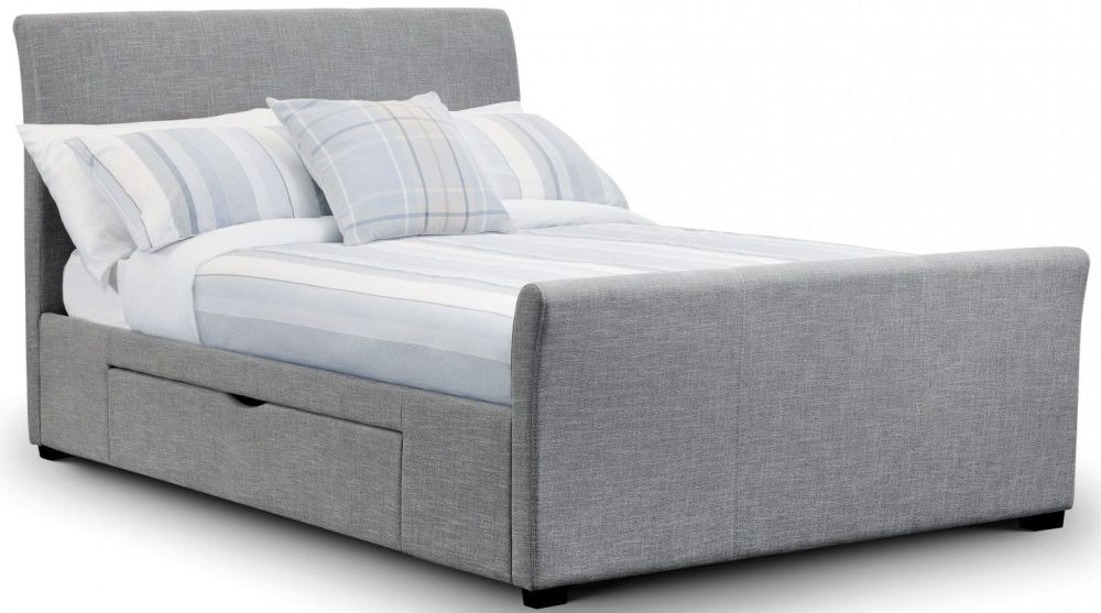 Julian Bowen Capri Light Grey Fabric Bed