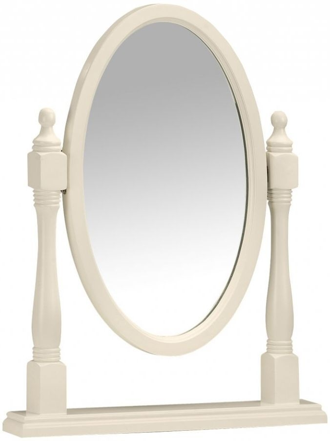 Julian Bowen Josephine Off White Mirror - Dressing Table Oval