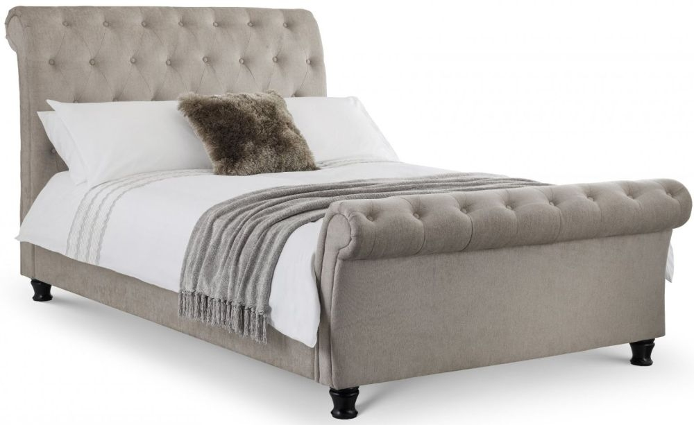 Julian Bowen Ravello Fabric Deep Button Scroll Bed