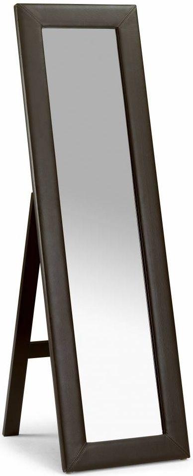 Julian Bowen Vienna Faux Leather Cheval Mirror