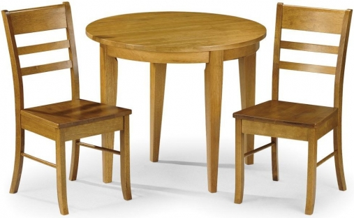 Julian Bowen Consort Round Flip Top Dining Set with 2 Chairs - 90cm