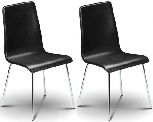 Buy Julian Bowen Mandy Black Leather Dining Chair Pair  : 1 Julian Bowen Mandy Black Leather Dining Chair Pair from www.choicefurnituresuperstore.co.uk size 507 x 405 jpeg 79kB